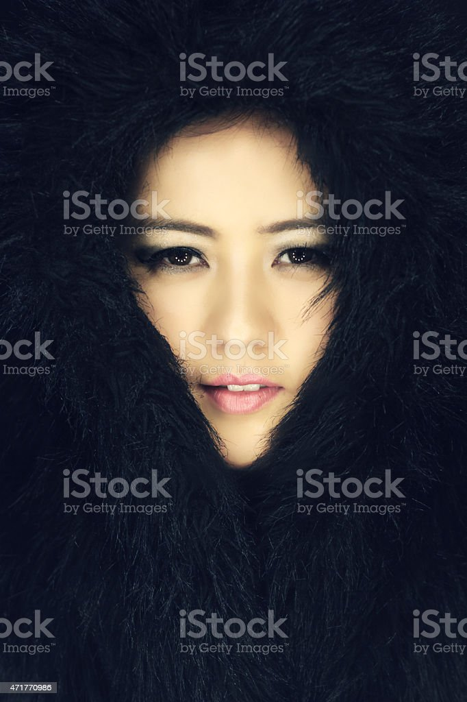 Portrait of beautiful asian woman stock photo