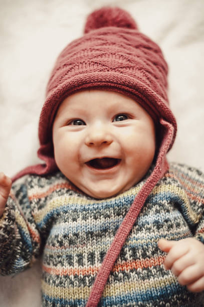 Portrait of beautiful baby girl stock photo