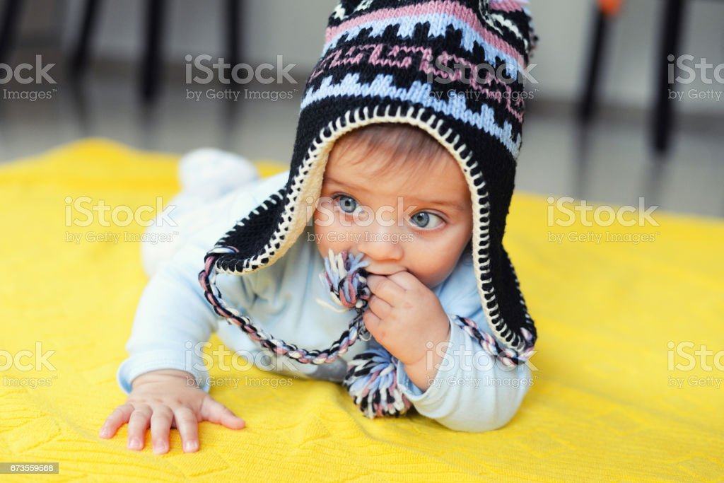 Portrait of beautiful baby with blue eyes royalty-free stock photo
