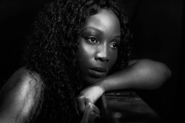Porträt der schöne schwarze Frau – Foto