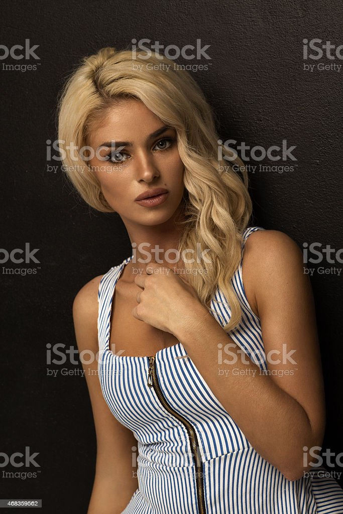 Portrait of beautiful blond woman royalty-free stock photo
