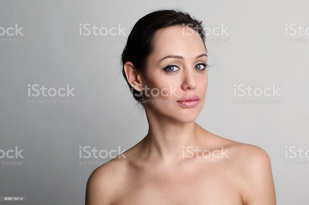 portrait of beautiful brunet women stock photo