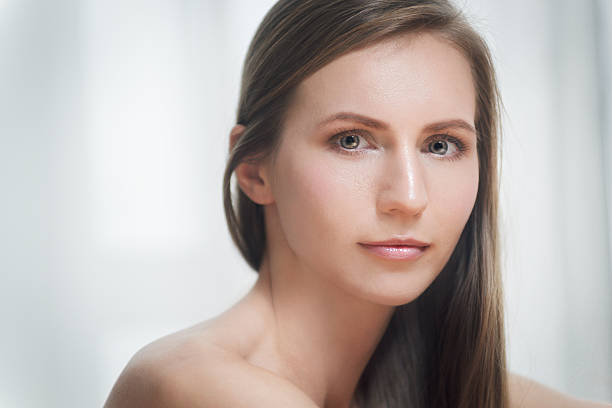 Cтоковое фото Портрет красивая брюнетка молодая женщина