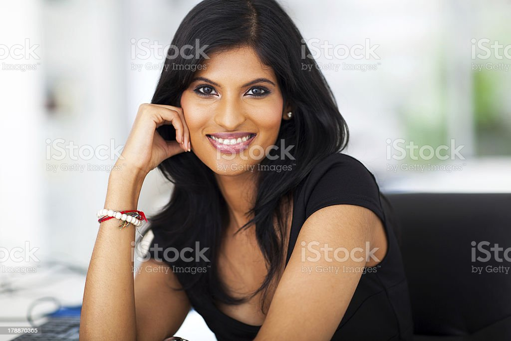 portrait of beautiful career woman royalty-free stock photo