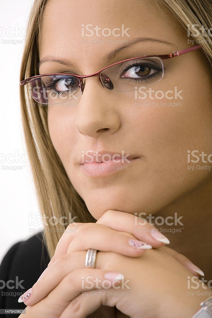 Portrait of beautiful college girl royalty-free stock photo
