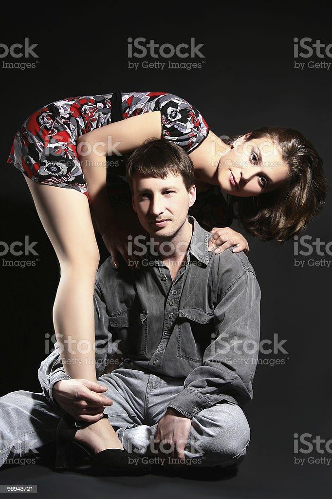 Portrait of beautiful couple royalty-free stock photo