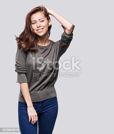 628536910 istock photo Portrait of beautiful emotional woman 625863618