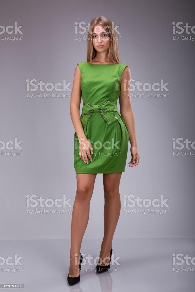 Vestidos color verde manzana