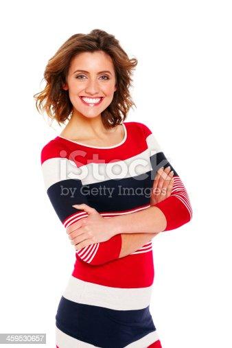 155097509 istock photo Portrait of beautiful female fashion model 459530657