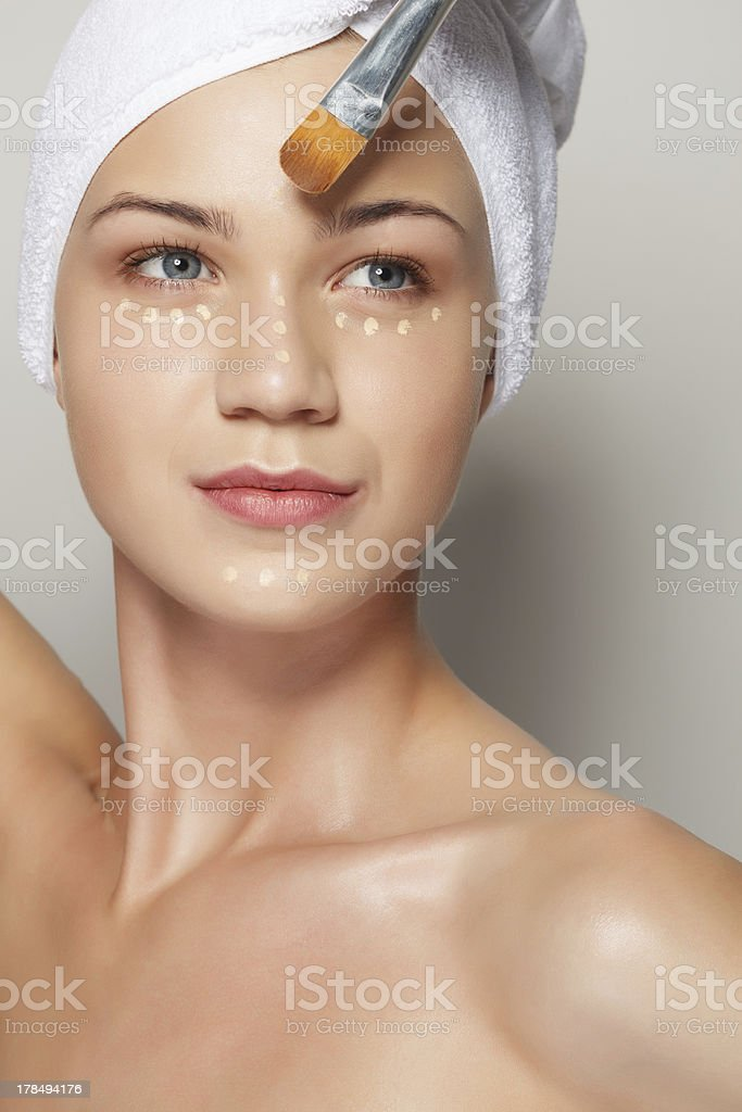 Portrait of beautiful female model royalty-free stock photo