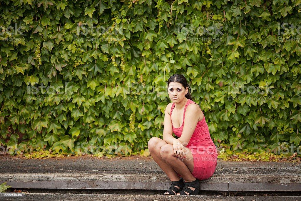 Portrait of beautiful female stock photo
