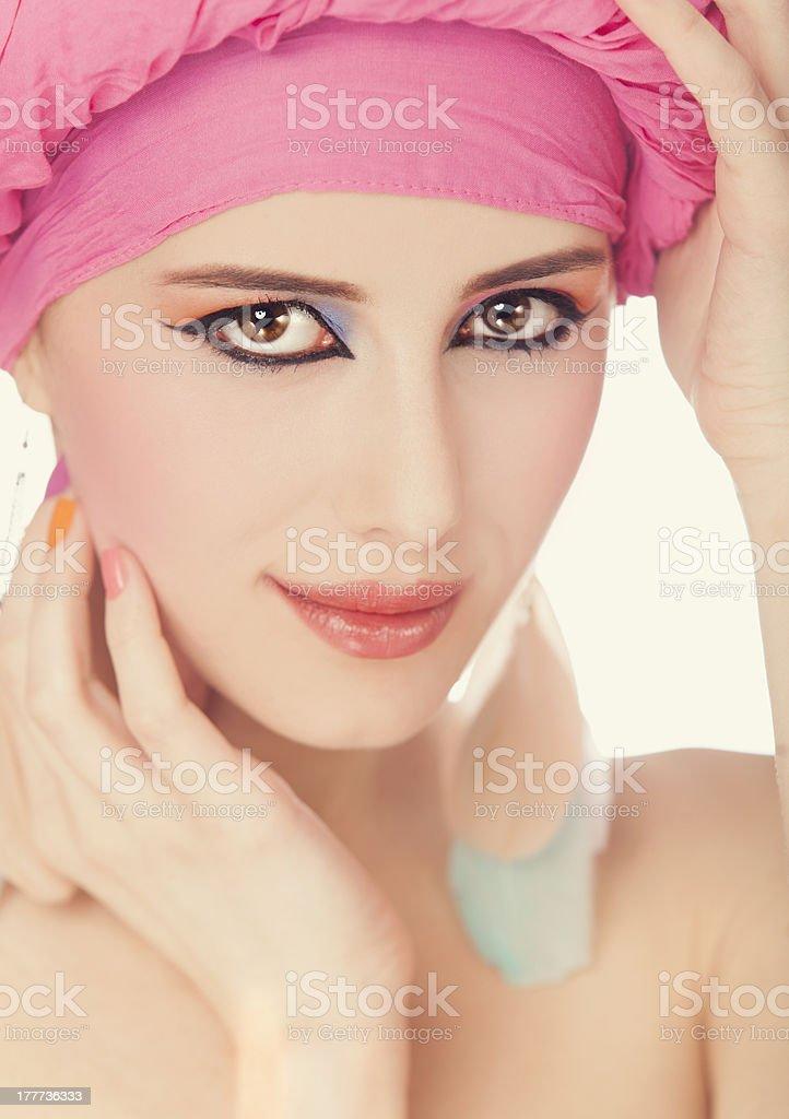 Portrait of beautiful girl. royalty-free stock photo