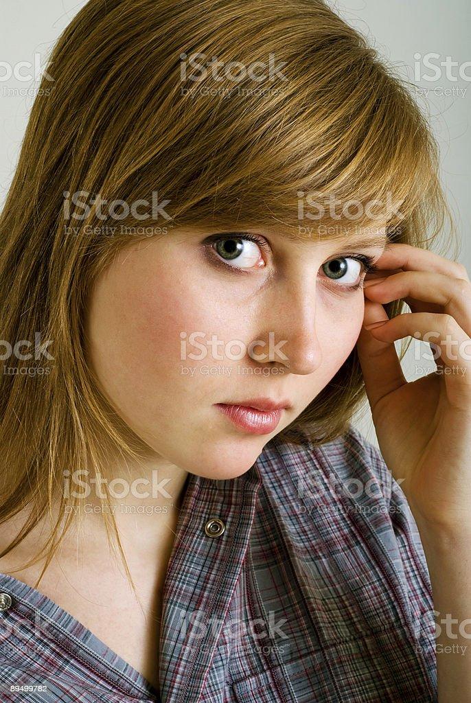 Retrato de la hermosa chica foto de stock libre de derechos