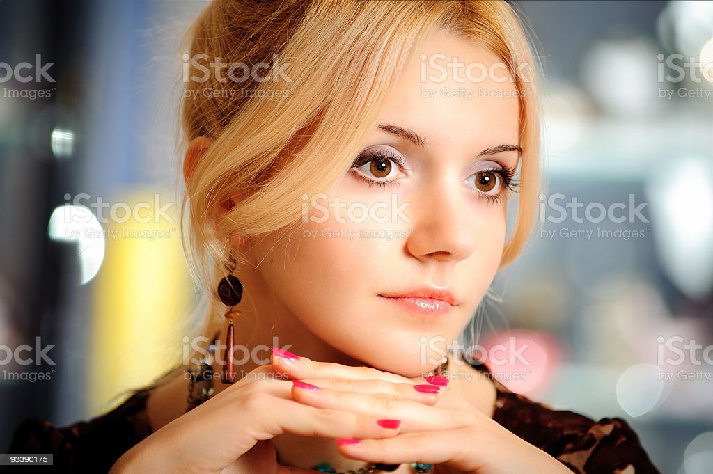 Portrait of beautiful girl royalty-free stock photo