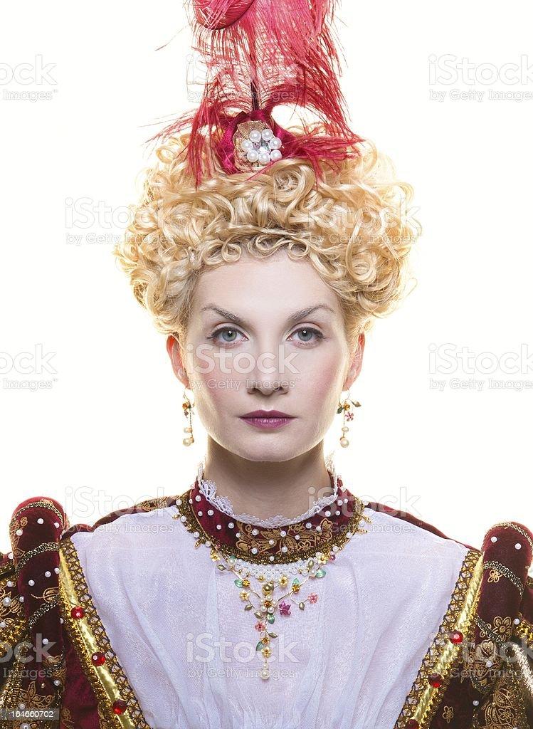Portrait of beautiful haughty queen royalty-free stock photo