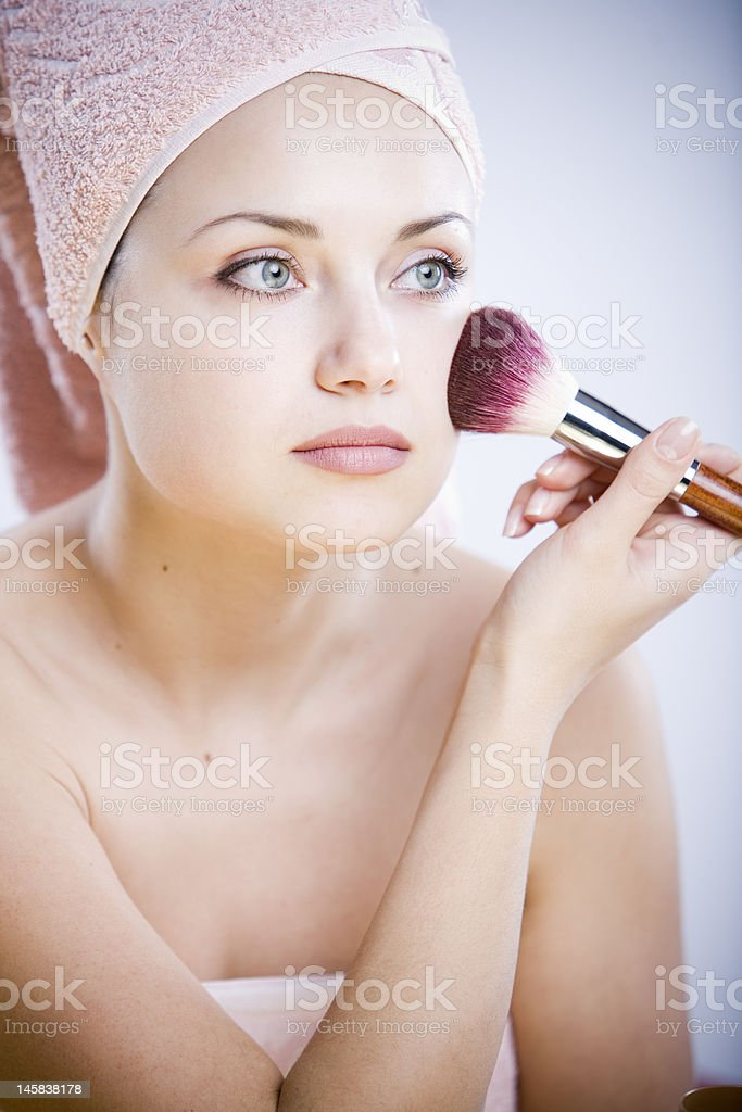portrait of beautiful healthy woman royalty-free stock photo