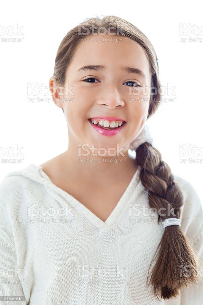 Portrait Of Beautiful Hispanic Preteen Girl Stock Photo -1834