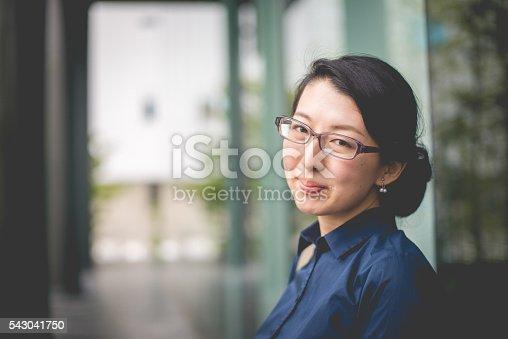istock Portrait of Beautiful Japanese Businesswoman Entrepreneur, Kyoto, Japan 543041750