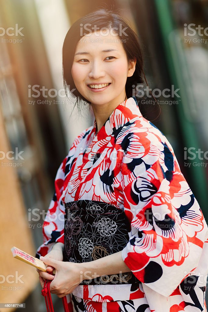 Portrait of beautiful japanese woman stock photo
