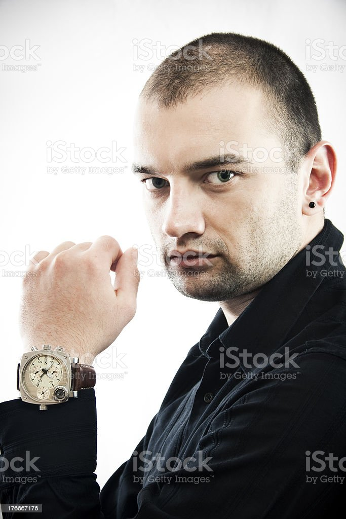 Portrait of beautiful male model royalty-free stock photo