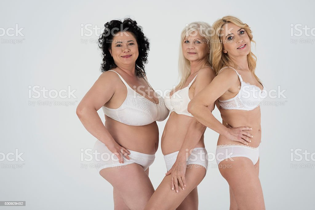 portrait of beautiful mature women in underwear stock photo & more