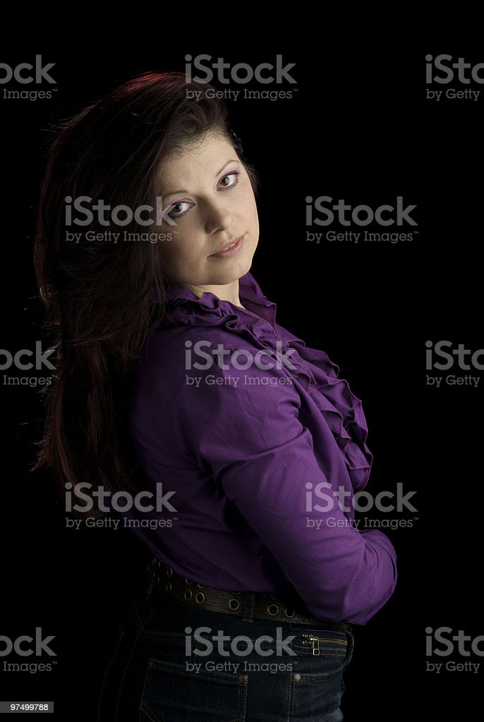 Portrait Of Beautiful Mid Adult Woman royalty-free stock photo