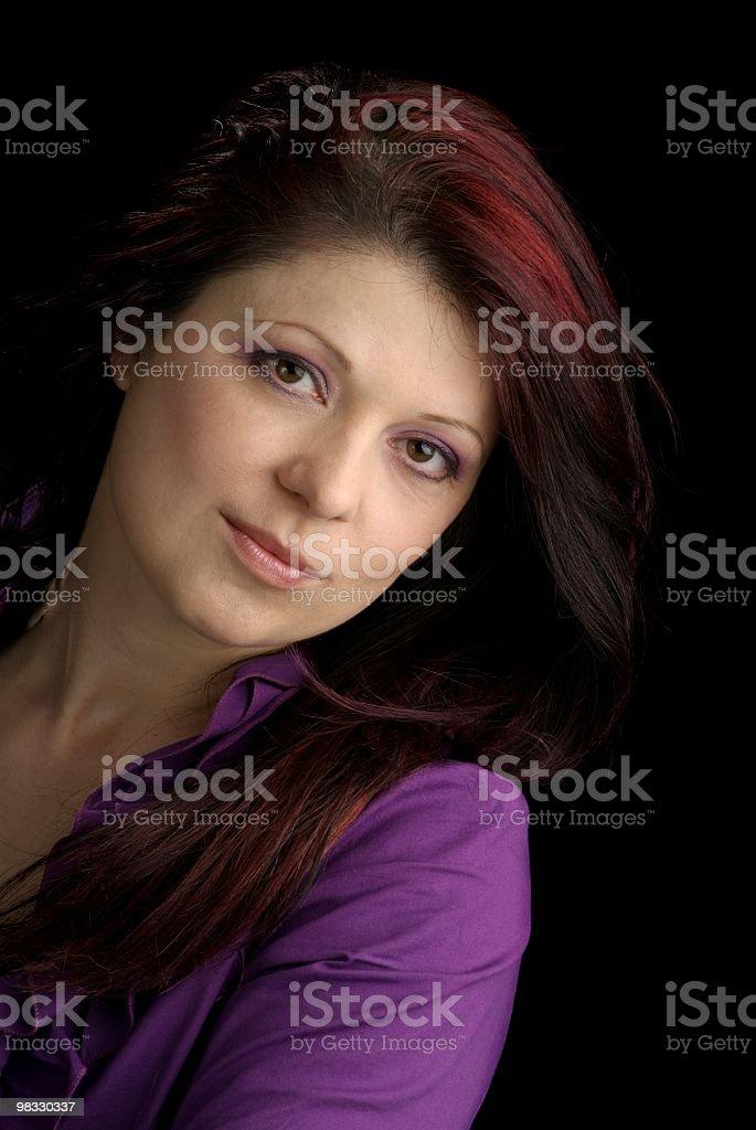 Ritratto di bella donna di mezza età foto stock royalty-free