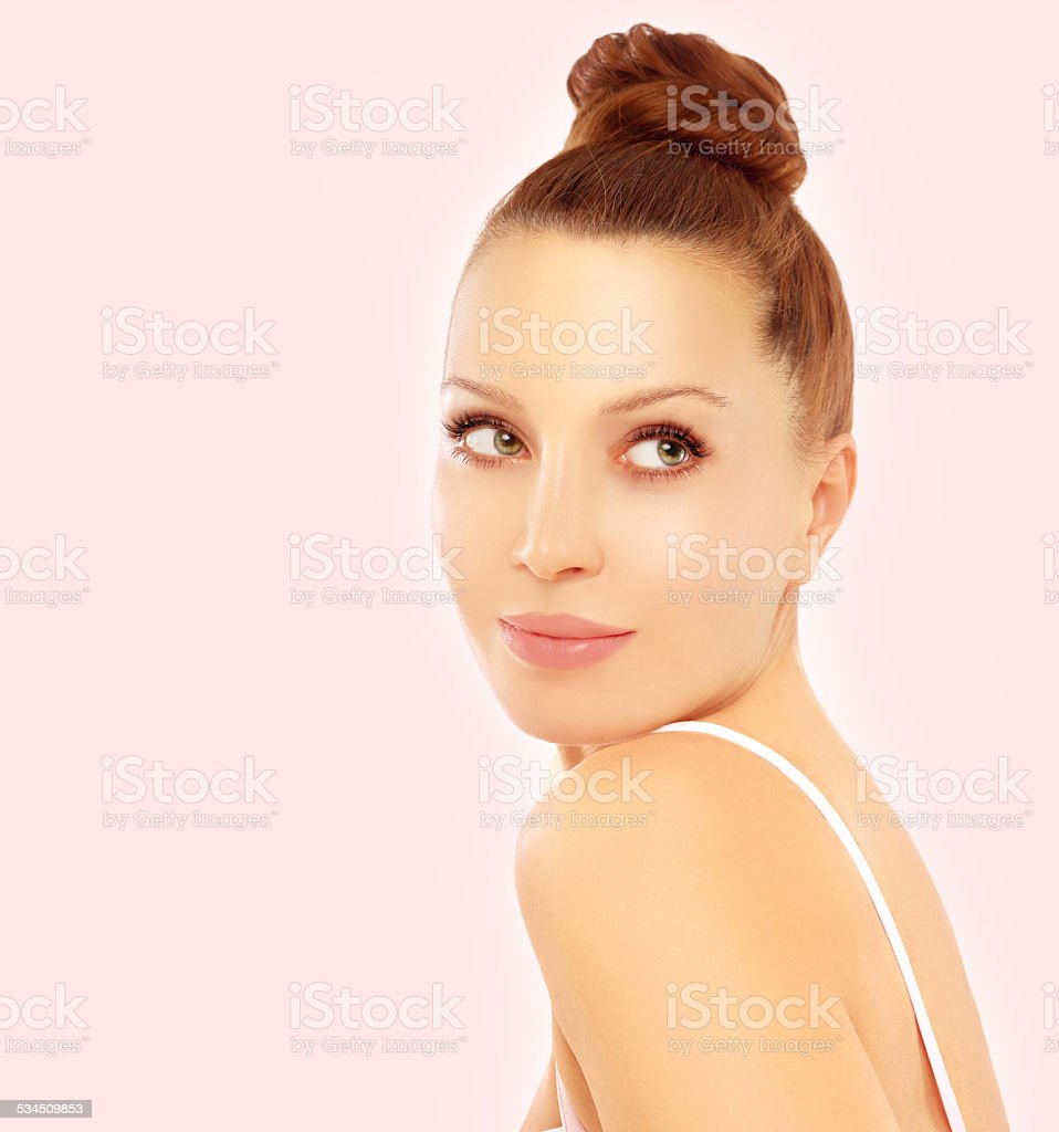 Portrait of beautiful mid-age  woman. stock photo