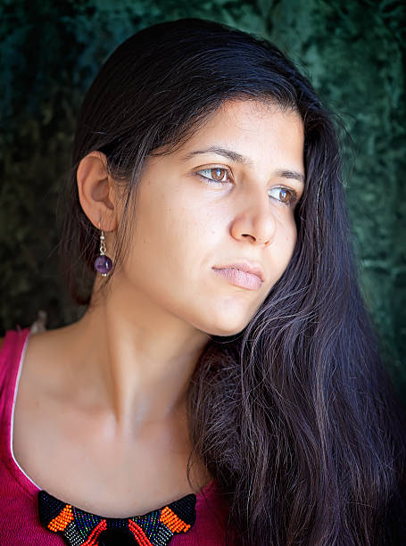 Portrait of beautiful middle eastern woman stock photo