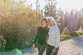 istock Portrait of beautiful mixed race senior woman spending time with her adult daughter outdoors 1326528501