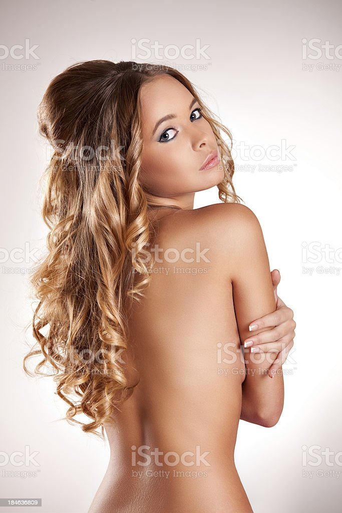Portrait of beautiful naked girl royalty-free stock photo
