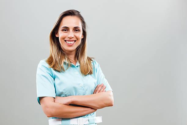 portrait of beautiful nurse - female nurse stock photos and pictures
