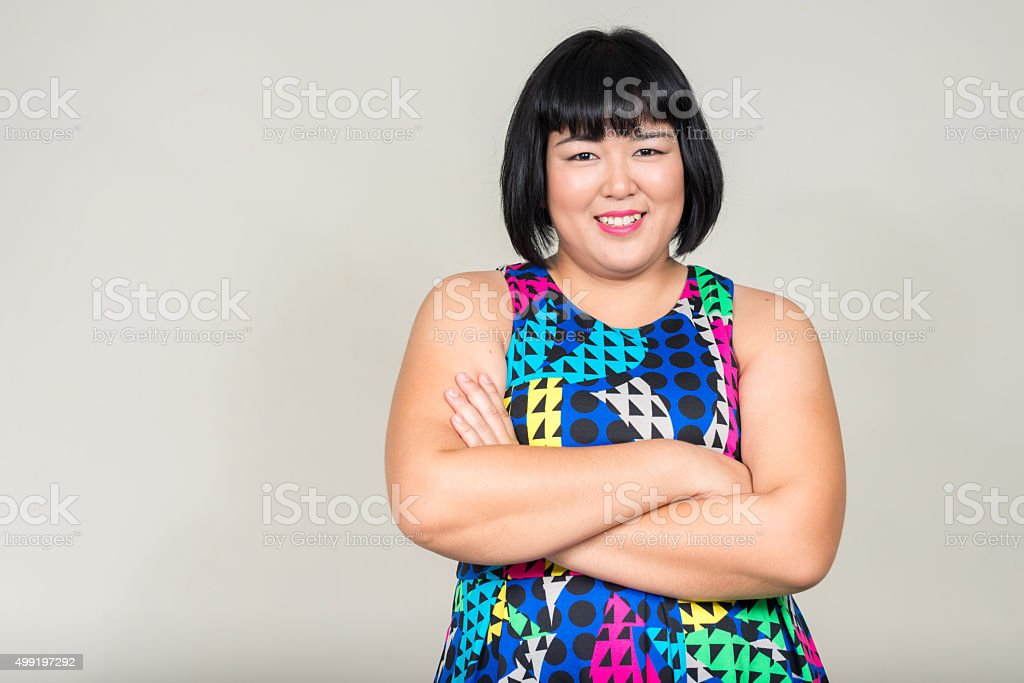 Portrait of beautiful overweight Asian woman圖像檔