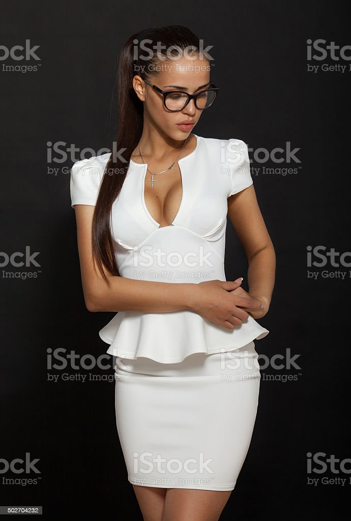 Portrait Of Beautiful Sexy Business Woman Stock Photo -3492