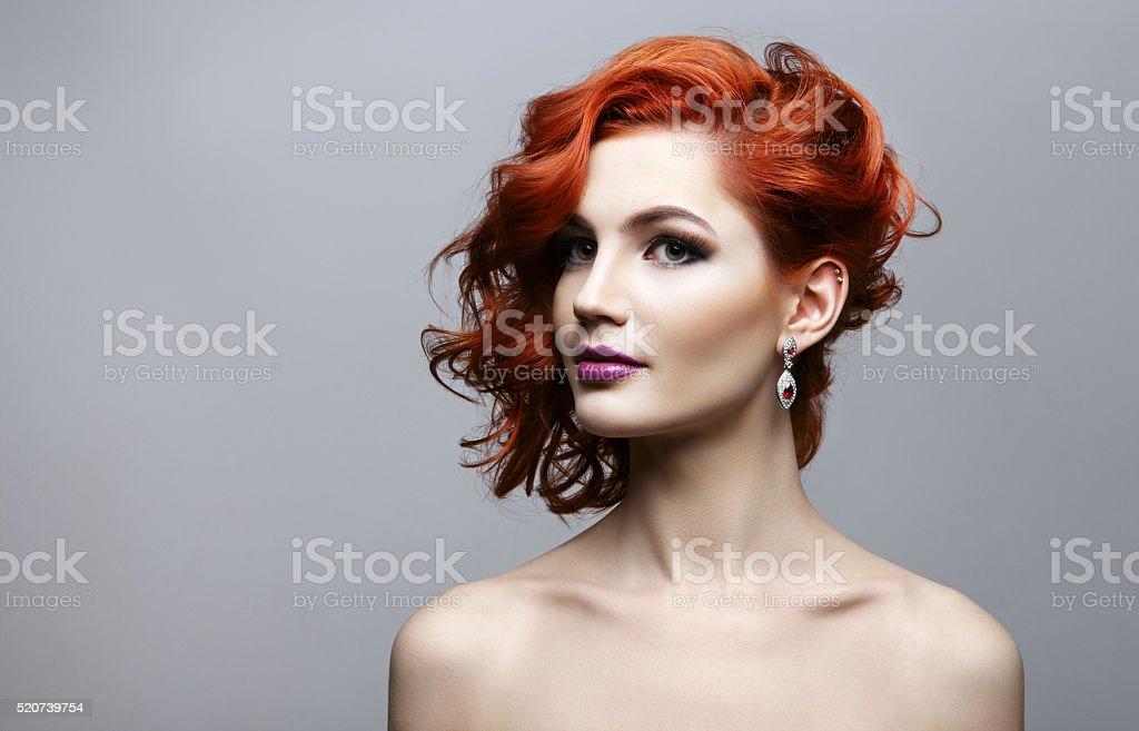 Portrait of beautiful sexy girl stock photo