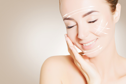 istock portrait of beautiful smiling woman with perfect skin 637367618
