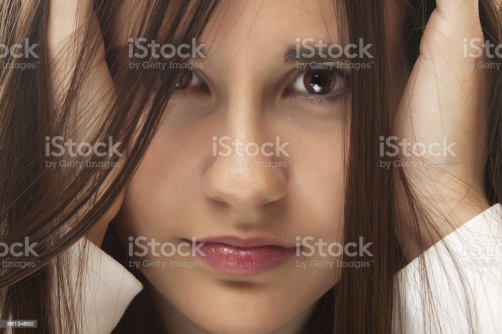 Portrait of beautiful teenage girl royalty-free stock photo
