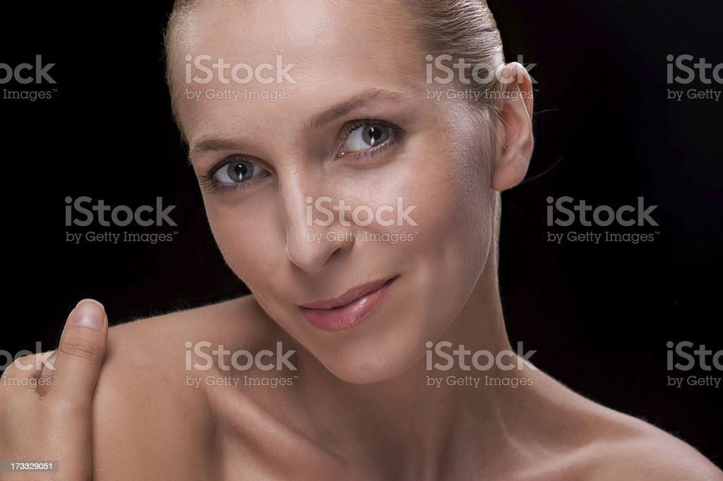Portrait of beautiful woman isolated royalty-free stock photo