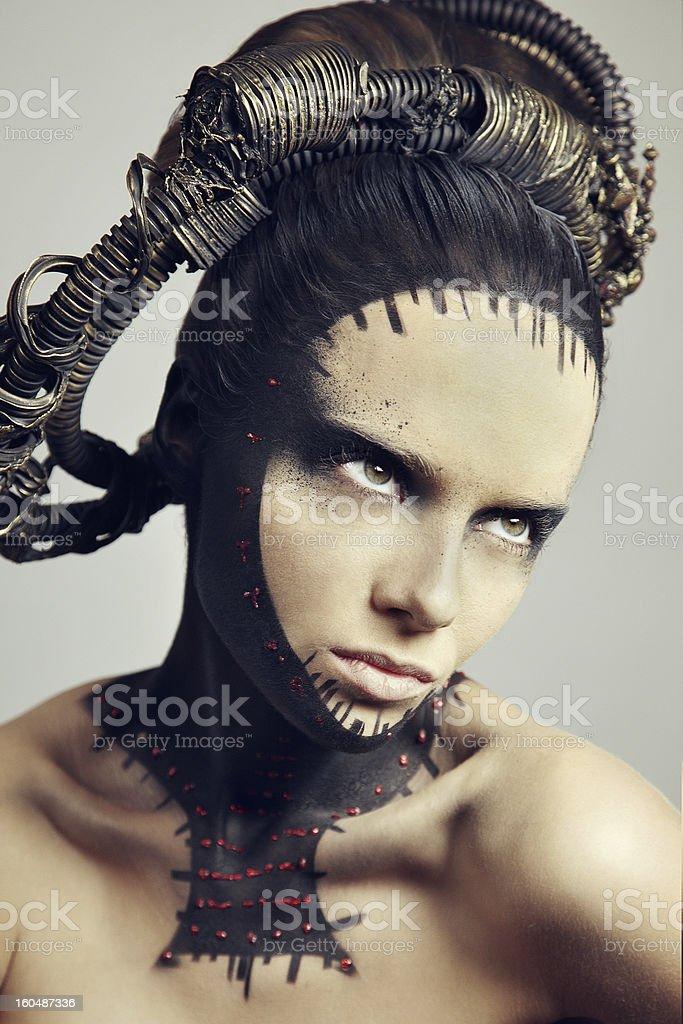 Portrait of beautiful women. Air brush make up. stock photo