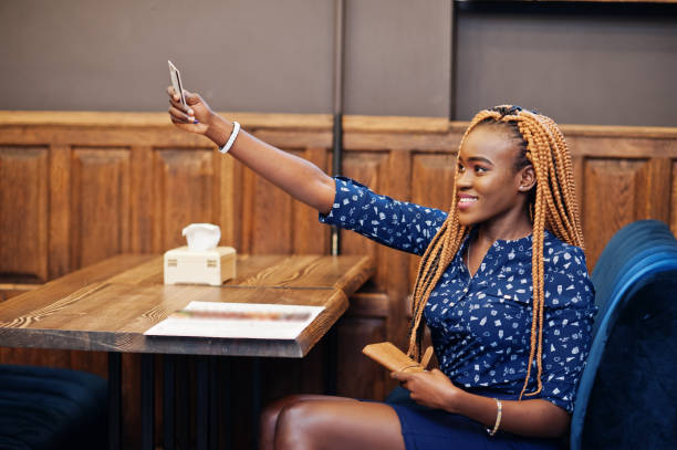 Portrait of beautiful young african business woman, stock photo