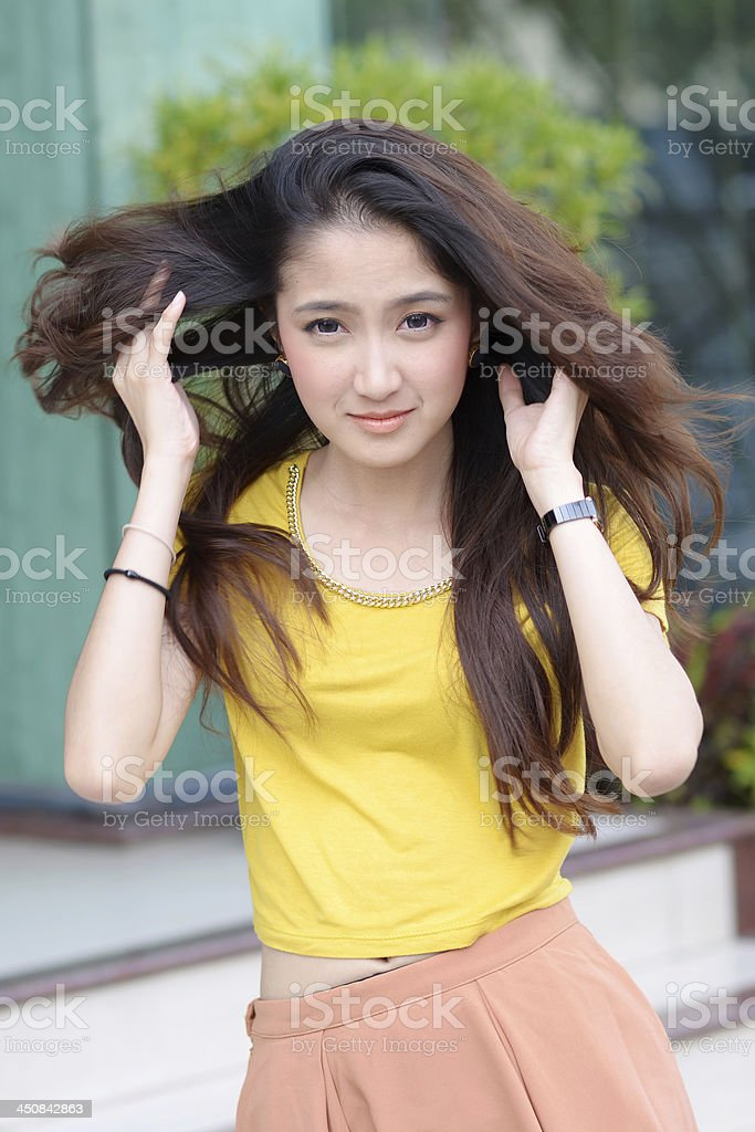 Portrait of beautiful young asian women royalty-free stock photo