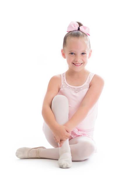 Portrait of beautiful young ballerina stock photo