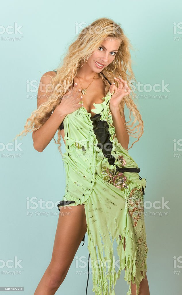 portrait of beautiful young blond woman royalty-free stock photo