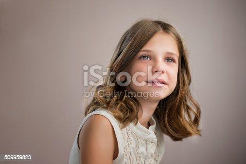 istock Portrait of beautiful young girl 509959823