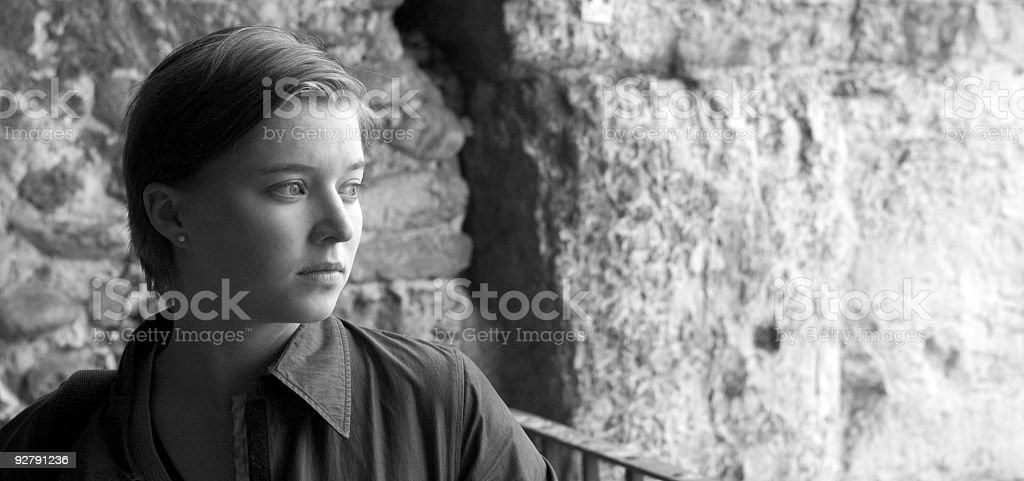 Portrait of Beautiful Young Woman in Verona royalty-free stock photo