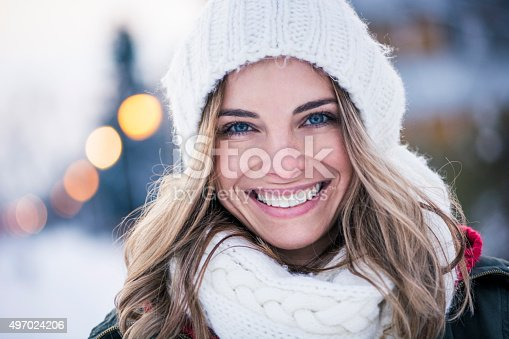istock Portrait of beautiful young woman 497024206