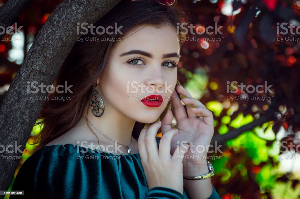 Portrait of beautiful young woman with bright makeup - Royalty-free Adult Stock Photo