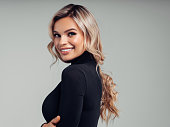 istock Portrait of beautiful young woman with elegant make-up and perfect hairstyle 1177381974