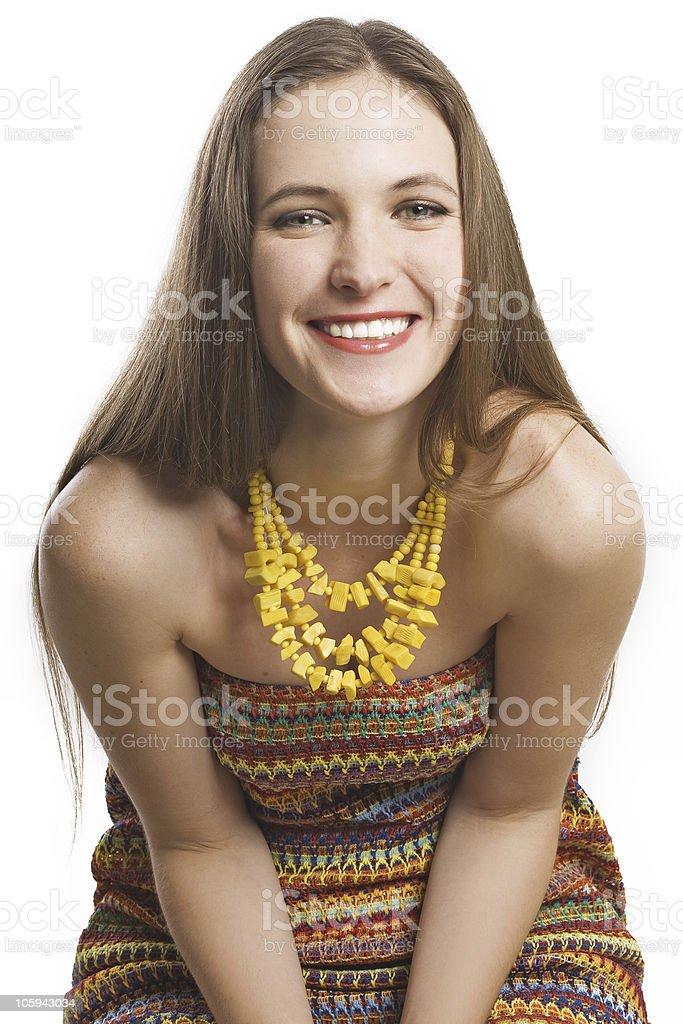 portrait of beauty happy woman royalty-free stock photo