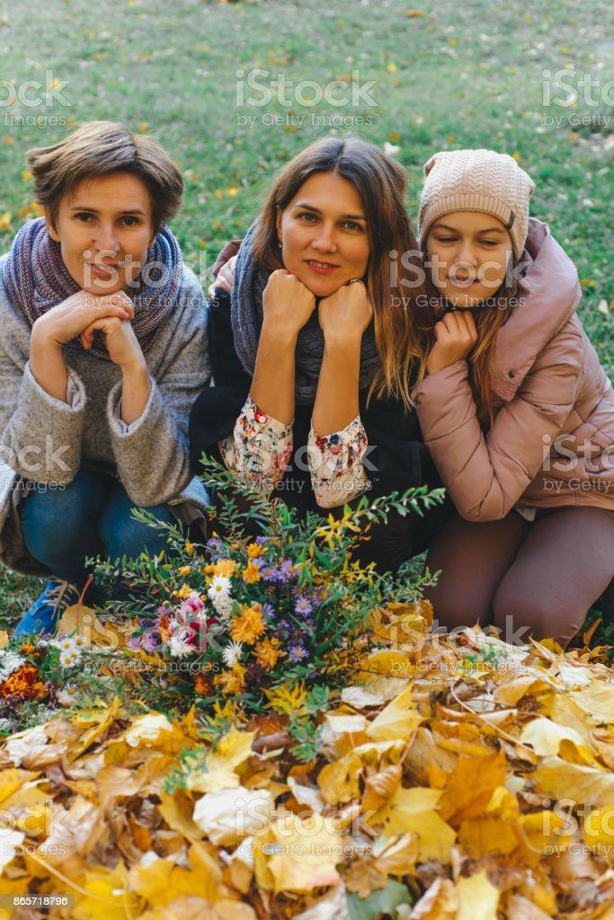 Portrait of beauty life outdoor in autumn stock photo